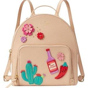 Kate Spade Hot Sauce Hot Stuff Cactus Backpack NEW